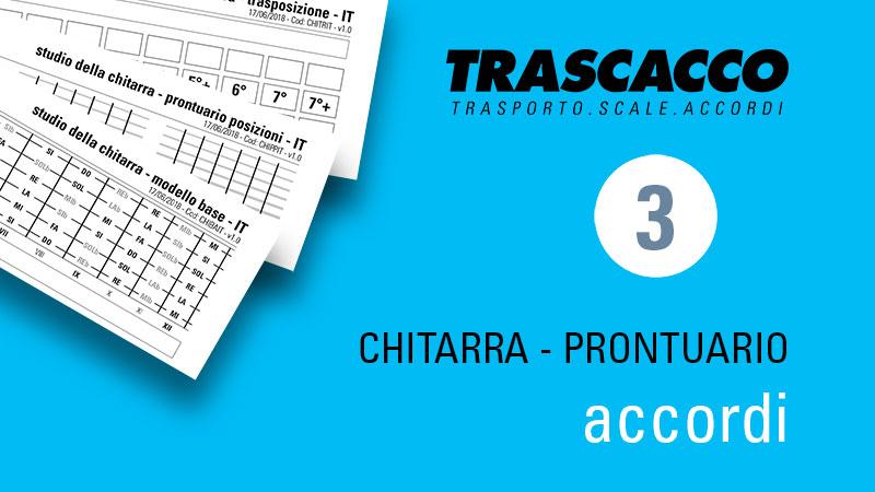 TRASCACCO - modello per prontuario di accordi - per chitarra